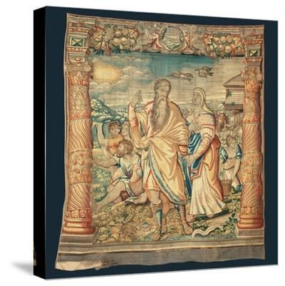 Tapestry Depicting the Descent from the Ark and the Series of the Life of Noah-Paulus van Nieuwenhove-Stretched Canvas Print