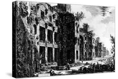 View of the Frigidarium at the Baths of Diocletian, from the 'Views of Rome' Series, C.1760-Giovanni Battista Piranesi-Stretched Canvas Print