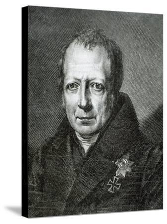 Wilhelm Von Humboldt (1767 1835)--Stretched Canvas Print
