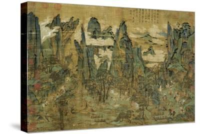 "An Anonymous Painting ""The Flight of the Emperor Ming Huang to Shu""--Stretched Canvas Print"