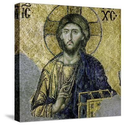 This Mosaic of the Enthroned Christ Is in the South Gallery of the Hagia Sophia, Istanbul--Stretched Canvas Print