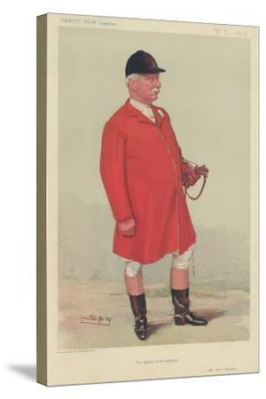 Mr Albert Brassey-Sir Leslie Ward-Stretched Canvas Print