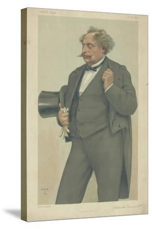 M Alexandre Dumas Fils-Theobald Chartran-Stretched Canvas Print