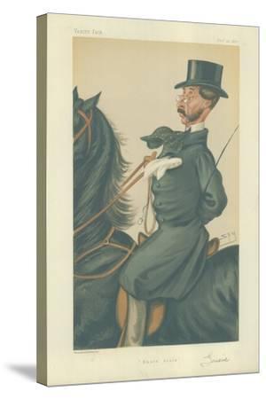 Mr John Mackenzie Grieve-Sir Leslie Ward-Stretched Canvas Print