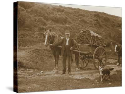 Peat Cutter's Cart, Dartmoor--Stretched Canvas Print