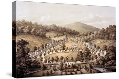 White Sulphur Springs, Montgomery County, from 'Album of Virginia', 1858-Edward Beyer-Stretched Canvas Print