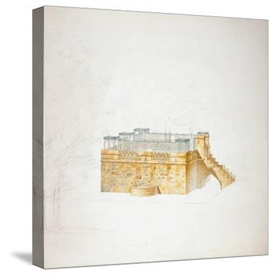 Queen Mary's Bower, Chatsworth-Sir Jeffry Wyatville-Stretched Canvas Print
