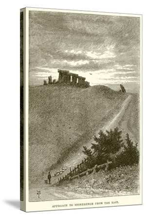 Approach to Stonehenge from the East--Stretched Canvas Print