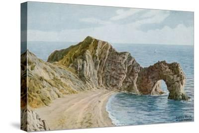 Durdle Door Near Lulworth-Alfred Robert Quinton-Stretched Canvas Print