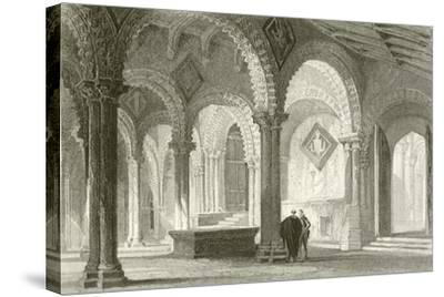 The Galilee, West End of Durham Cathedral-Thomas Allom-Stretched Canvas Print