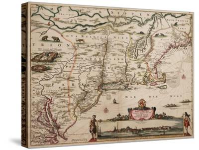 Novi Belgi Novaeque Angliae [New Netherland and New England], 1682-Nicolaes the Younger Visscher-Stretched Canvas Print