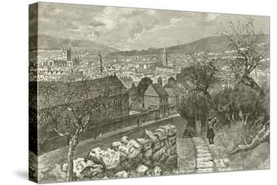 Bath, from Beechen Cliff--Stretched Canvas Print