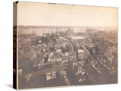 Panorama of Philadelphia, East-Southeast View, 1870--Stretched Canvas Print