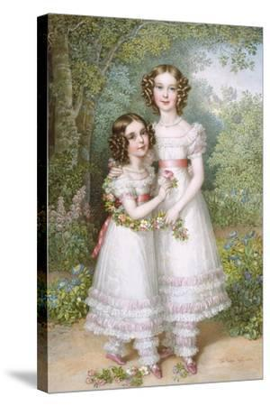 The Talbot Sisters-Johann Nepomuk Ender-Stretched Canvas Print