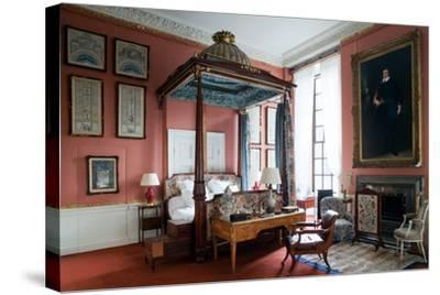 Queen of Scots Bedroom, Chatsworth House, Derbyshire--Stretched Canvas Print