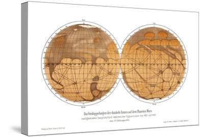 Schiaparelli's Map of Mars, 1882-1888-Detlev Van Ravenswaay-Stretched Canvas Print