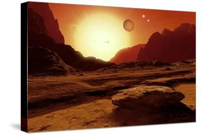 Landscape of An Alien World, Artwork-Detlev Van Ravenswaay-Stretched Canvas Print
