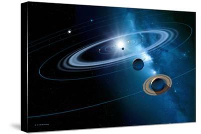 Solar System-Detlev Van Ravenswaay-Stretched Canvas Print