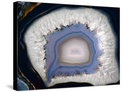 Agate, Artificially Coloured-Dirk Wiersma-Stretched Canvas Print