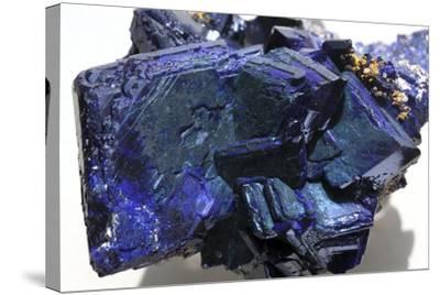 Azurite Crystals-Dirk Wiersma-Stretched Canvas Print