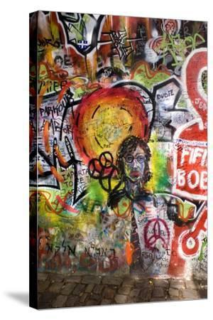 Lennon Wall, Prague-Mark Williamson-Stretched Canvas Print