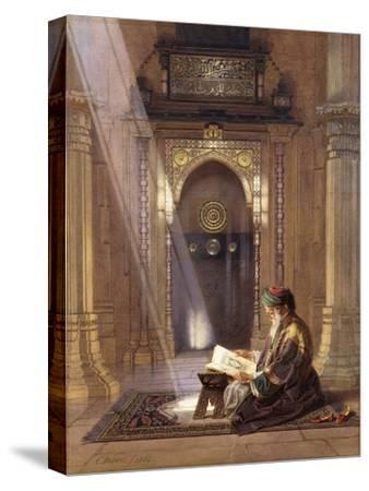 In the Mosque-Carl Friedrich Heinrich Werner-Stretched Canvas Print
