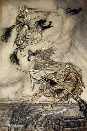 The Ingoldsby Legends: Frontispiece-Arthur		 Rackham-Stretched Canvas Print