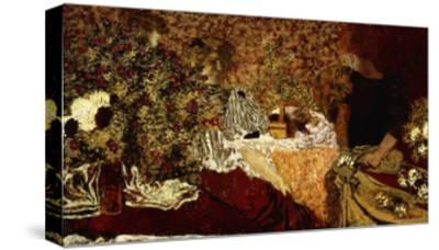 Dressing Table (in the flowers); Le Table de Toilette (Dans le Fleurs)-Edouard Vuillard-Stretched Canvas Print