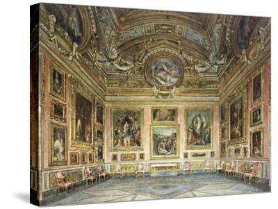 Interiors of the Palazzo Pitti, Florence-Domenico Caligo-Stretched Canvas Print