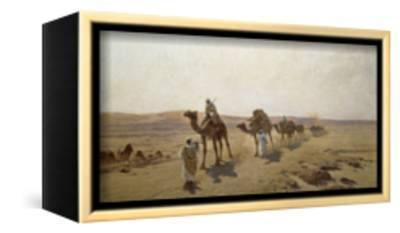 An Arab Caravan-Ludwig Hans Fischer-Framed Stretched Canvas Print