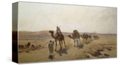 An Arab Caravan-Ludwig Hans Fischer-Stretched Canvas Print