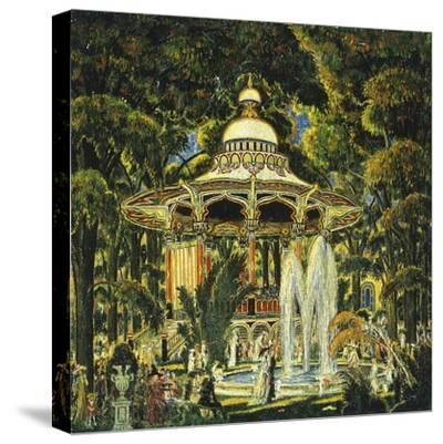 Gazebo in Central Park-Edward Middleton Manigault-Stretched Canvas Print