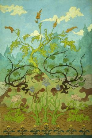 Sunflowers and Poppies-Paul Ranson-Stretched Canvas Print