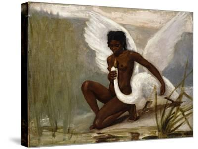 Diana Bathing-Jacques Fernand		 Hymbert-Stretched Canvas Print