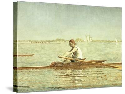 John Biglin in a Single Scull-Thomas Cowperthwait Eakins-Stretched Canvas Print