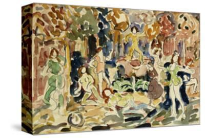 Dancing Figures-Maurice Brazil Prendergast-Stretched Canvas Print