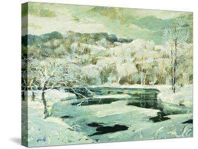 Frosted Trees-Jonas		 Lie-Stretched Canvas Print