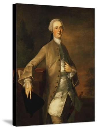 Portrait of David Garrick-Thomas Gainsborough-Stretched Canvas Print