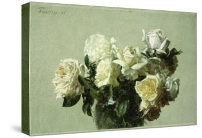 Roses-Henri Fantin-Latour-Stretched Canvas Print