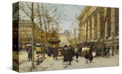 Flower Market-Eugene Galien-Laloue-Stretched Canvas Print