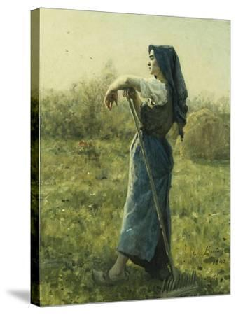 The Harvester-Jules Breton-Stretched Canvas Print