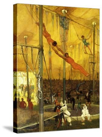 Trapeze Artists-Francis Luis		 Mora-Stretched Canvas Print