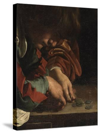 The Calling of St Matthew-Caravaggio-Stretched Canvas Print