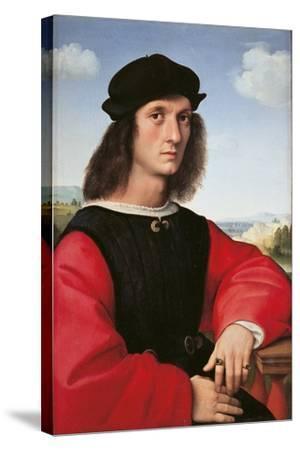 Portrait of Agnolo Doni-Raffaello Sanzio-Stretched Canvas Print