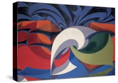 Forms Shout 'Viva L'Italia!'-Balla Giacomo-Stretched Canvas Print