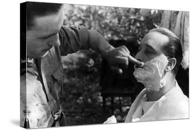 Maner Lualdi Getting a Shave--Stretched Canvas Print
