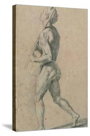 Drawing, Male Nude Walking-Raphael-Stretched Canvas Print