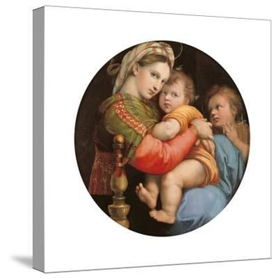 Madonna of the Chair-Raphael-Stretched Canvas Print