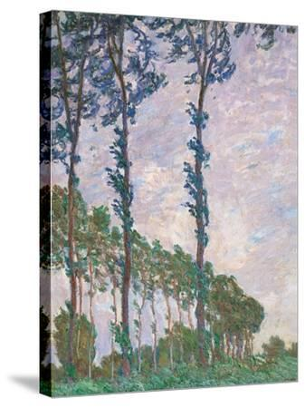 Wind Effect, Series of Poplars-Claude Monet-Stretched Canvas Print