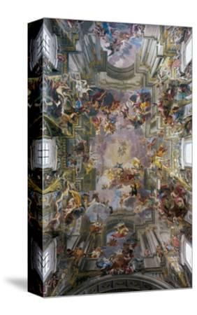 Glory of St. Ignatius-Andrea Pozzo-Stretched Canvas Print